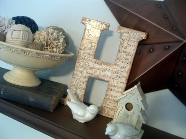 DIY Sheet Music Letter,