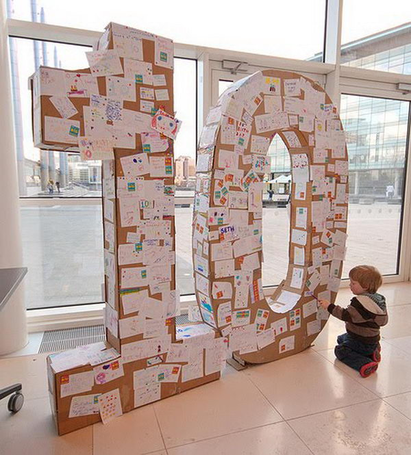 20 cool diy cardboard letters hative for Cheap 3d cardboard letters