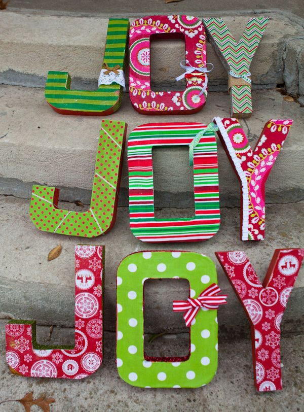Fabric Covered Cardboard Letters,