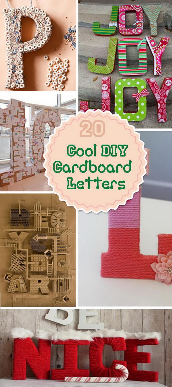 20 Cool Diy Cardboard Letters Hative
