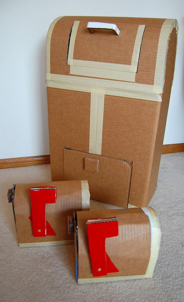 14 mailbox cardboard playhouse