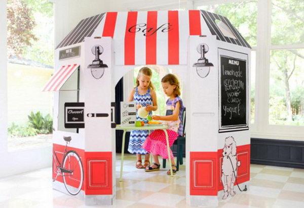 30 Creative Diy Cardboard Playhouse Ideas Hative
