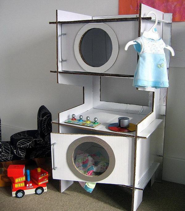 22 cardboard washer dryer