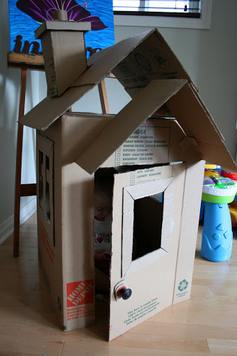 30 cardboard box playhouse