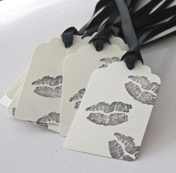 Black Kisses Thank You Cards,
