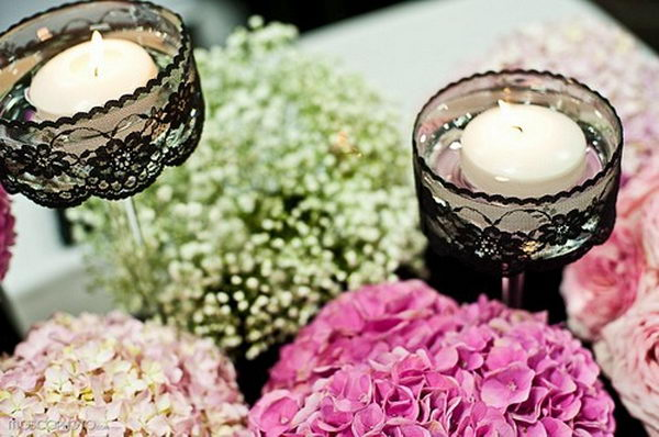 Lace around Candle,