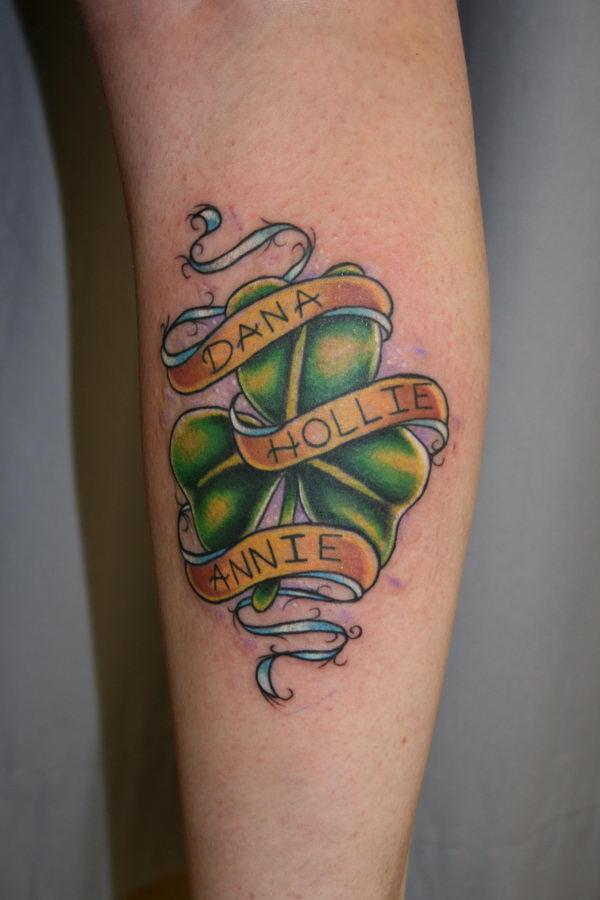 29 shamrock tattoo with names