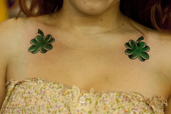 31 shamrock on collar bone