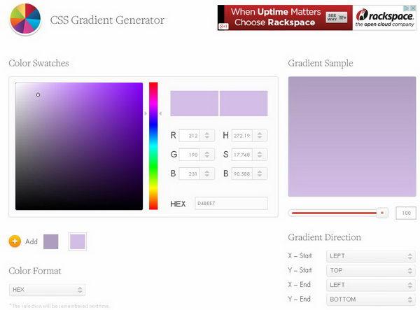 15 Free Online CSS Gradient Generators - Hative