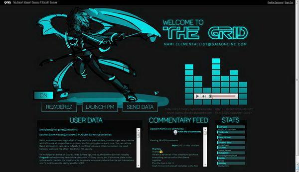3 tron gaia profile layout