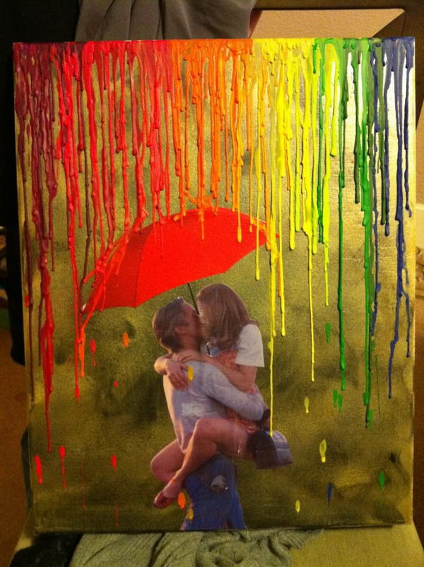 30 cool melted crayon art ideas hative for Cool art canvas ideas