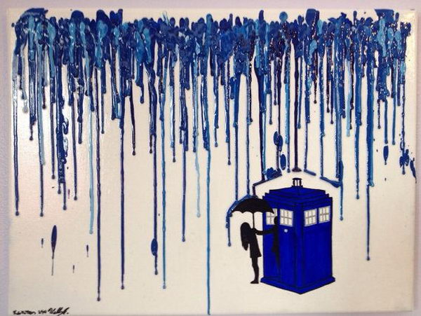 26 melted crayon doctor who