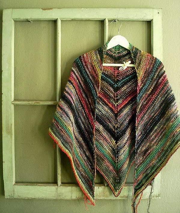 3 melted crayon shawl