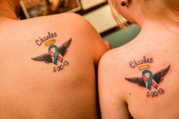 6 baby memorial matching tattoos