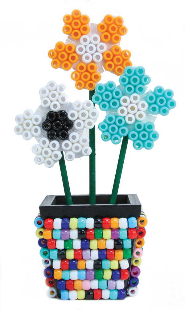 17 flower pot perler beads