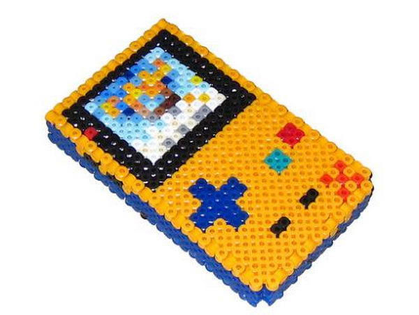 18 3d gameboy perler beads