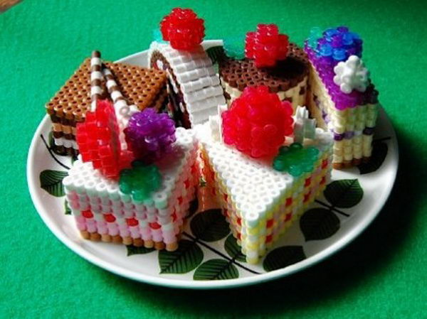 9 food crafts perler beads