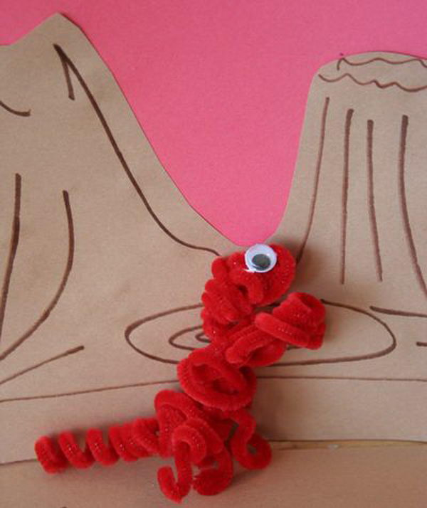 10 dinosaur finger puppets http://hative.com/pipe-cleaner-animals-for-kids/