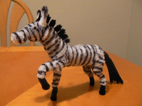 18 pipe cleaner zebra