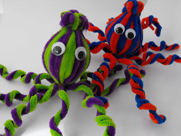 46 pipe cleaner octopus