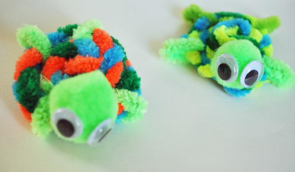 9 pipe cleaner turtles