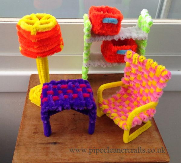 12 furniture pip cleaner crafts