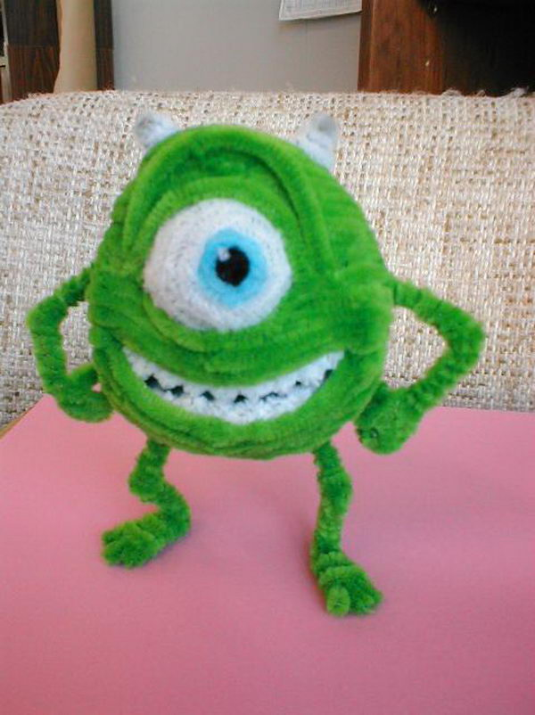 18 homemade monsters inc & 80+ Cool Pipe Cleaner Crafts - Hative