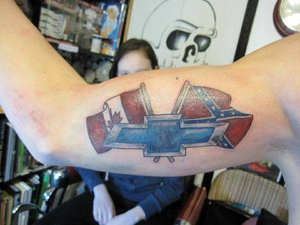 17 canadian chevy rebel flag tattoo