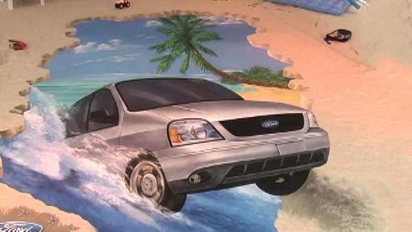 Ford Painting in Mexico.