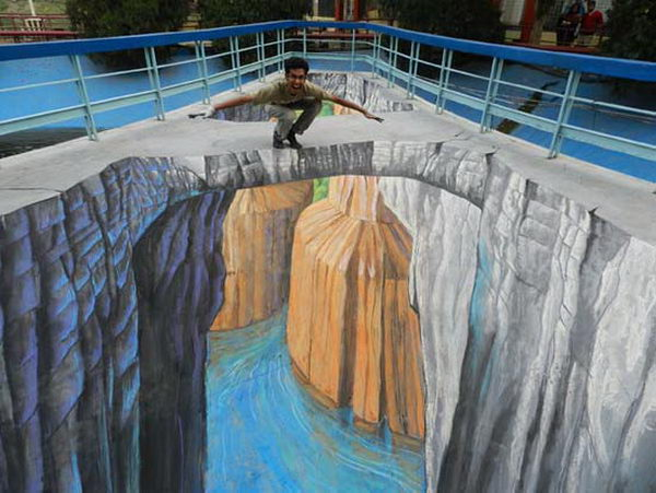 Bridge 3D Street Art.