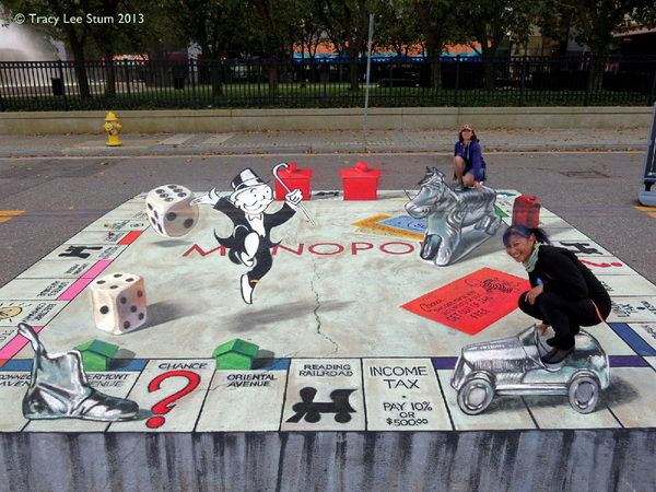 3D Monopoly Art.