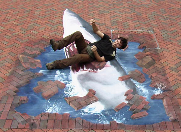 Shark Painting in Hong Kong.