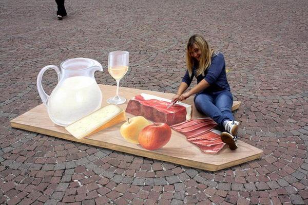 Gourmet Painting in Bolzano, Italy.