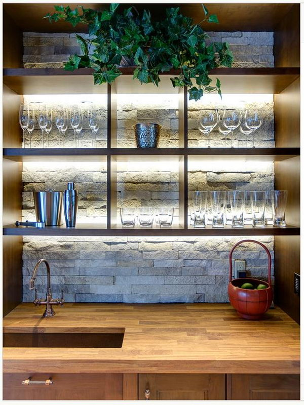 Creative Basement Bar Ideas also Finishes additionally 170902554509 further Pallet Bar Step By Step likewise Cool Diy Shoe Rack Decorating Ideas. on lighted bar shelves