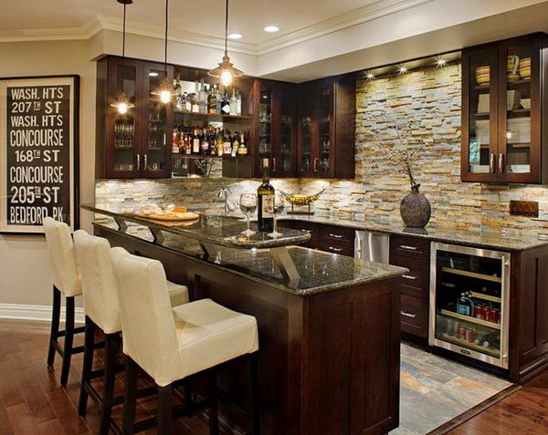 Basement Bar Idea.