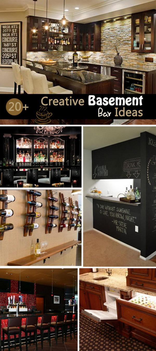 20+ Creative Basement Bar Ideas