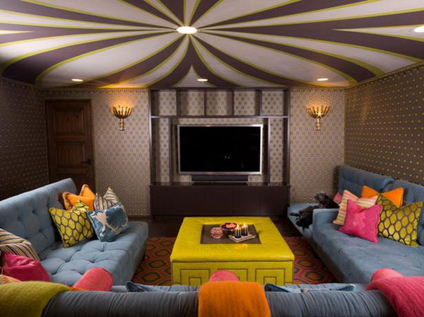 20 cool basement ceiling ideas hative for Where can i get wallpaper for my room