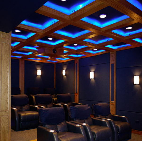 20 cool basement ceiling ideas hative for Home theater basement design ideas