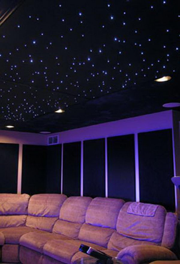 Delicieux Star Ceiling. Install Fiber Optic Star Ceiling Kits, Tiles And Domes Into  Your Living