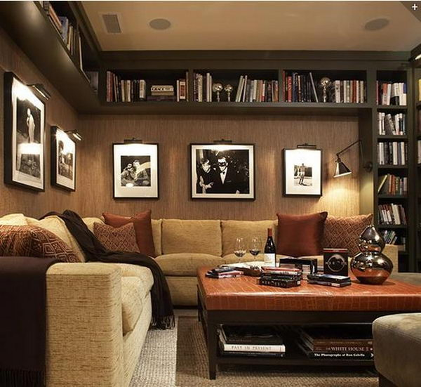 Black Basement Bookshelves,