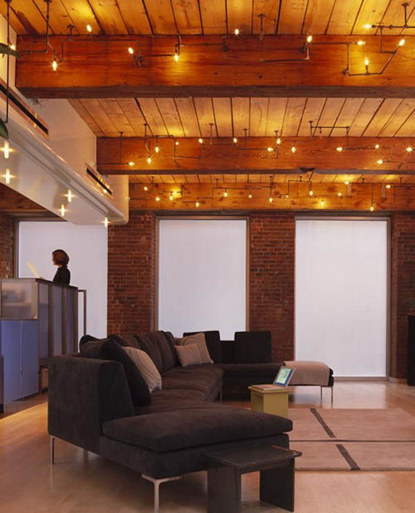 exposed ceiling lighting basement industrial black finished basement plumbing pipe lights these light fixtures from mesh architects score very high points clever 20 cool basement ceiling ideas hative