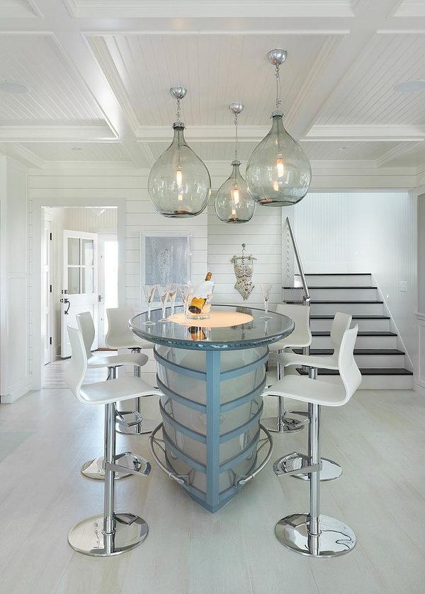 Glass Basement Ceiling Lighting