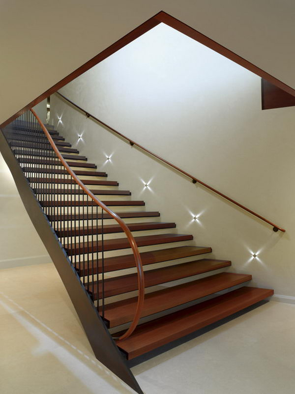 Basement Lighting Part - 47: Basement Stairs Lighting. Built In Night Lights To Go Down Or Up Stairs  When It