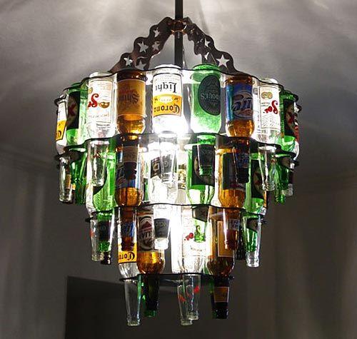 Beer Bottle Chandelier,