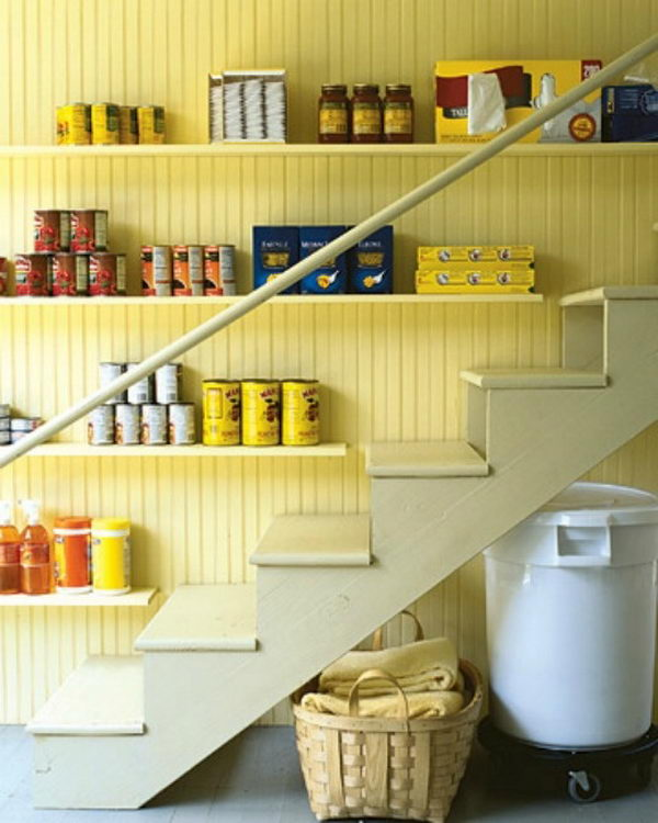 Basement Stairs Storage 20 clever basement storage ideas - hative
