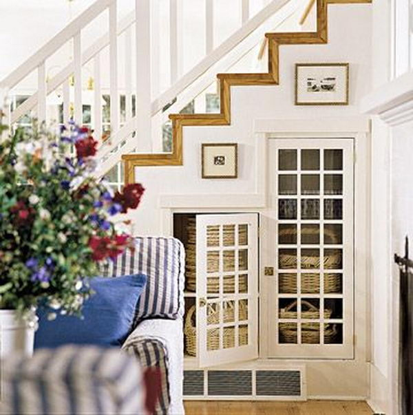 Basement Stair Designs Plans: 20 Clever Basement Storage Ideas