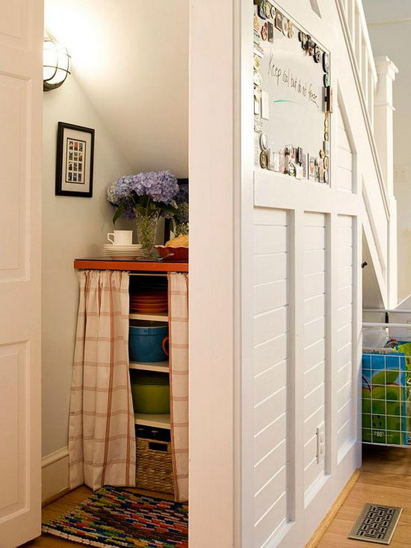 20 clever basement storage ideas hative - Under stairs closet ideas ...