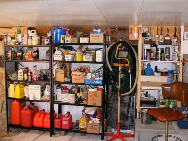 Basement Storage Idea.