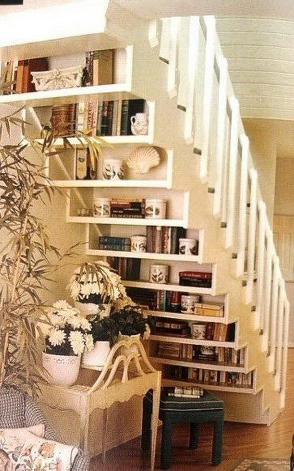 Under Stair Space Saving Shelving.