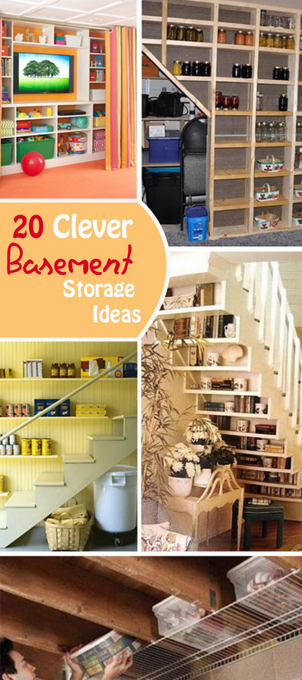 Clever Basement Storage Ideas!